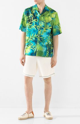 Мужская рубашка VERSACE зеленого цвета, арт. A85919/A234748   Фото 2