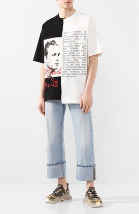 Мужская хлопковая футболка DOLCE & GABBANA черно-белого цвета, арт. G8LE7Z/G7VPP   Фото 2