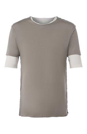 Мужская хлопковая футболка KAZUYUKI KUMAGAI темно-серого цвета, арт. AJ01-216   Фото 1