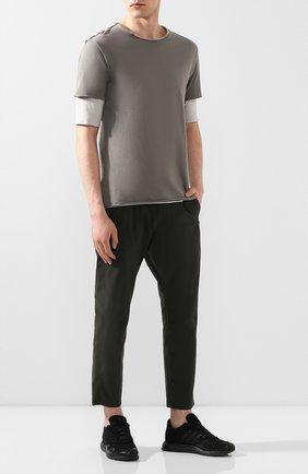 Мужская хлопковая футболка KAZUYUKI KUMAGAI темно-серого цвета, арт. AJ01-216   Фото 2