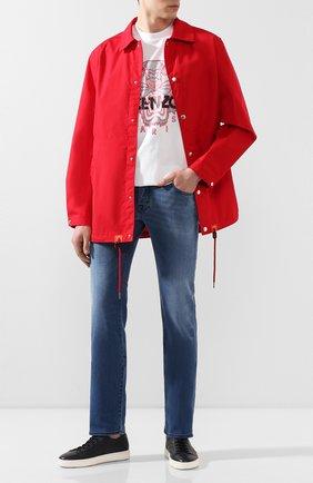 Мужские джинсы JACOB COHEN синего цвета, арт. J620 C0MF 01867-W2/53 | Фото 2