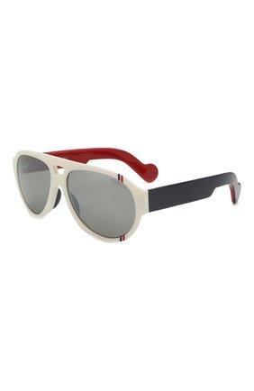 Мужские солнцезащитные очки MONCLER белого цвета, арт. ML 0095 21C 57 С/З ОЧКИ | Фото 1