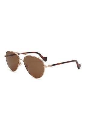 Мужские солнцезащитные очки MONCLER коричневого цвета, арт. ML 0056 28J 57 С/З ОЧКИ | Фото 1