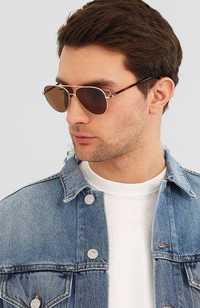 Мужские солнцезащитные очки MONCLER коричневого цвета, арт. ML 0056 28J 57 С/З ОЧКИ | Фото 2