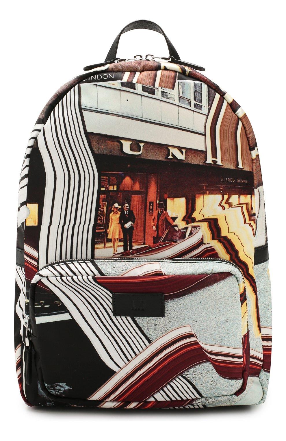 Мужской текстильный рюкзак DUNHILL черного цвета, арт. DU20R3735KC | Фото 1