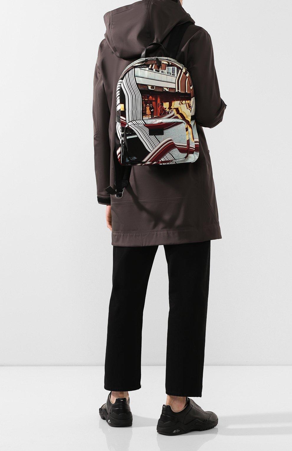 Мужской текстильный рюкзак DUNHILL черного цвета, арт. DU20R3735KC | Фото 2