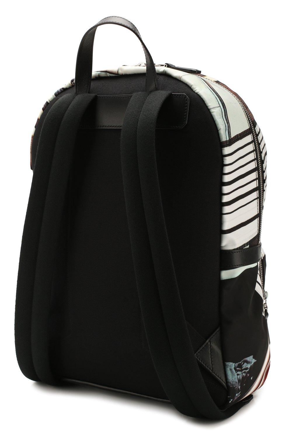 Мужской текстильный рюкзак DUNHILL черного цвета, арт. DU20R3735KC | Фото 3