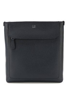 Мужская кожаная сумка-планшет DUNHILL темно-синего цвета, арт. DU20R3109AR | Фото 1