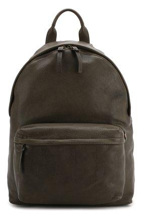 Мужской кожаный рюкзак OFFICINE CREATIVE темно-зеленого цвета, арт. 0C PACK/IGNIS | Фото 1 (Материал: Натуральная кожа)
