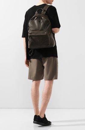 Мужской кожаный рюкзак OFFICINE CREATIVE темно-зеленого цвета, арт. 0C PACK/IGNIS | Фото 2 (Материал: Натуральная кожа)