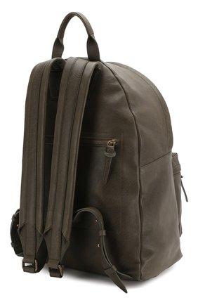 Мужской кожаный рюкзак OFFICINE CREATIVE темно-зеленого цвета, арт. 0C PACK/IGNIS | Фото 3 (Материал: Натуральная кожа)