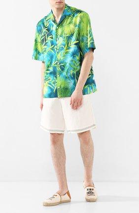 Мужские кожаные эспадрильи GUCCI белого цвета, арт. 599556/F6LZ0 | Фото 2