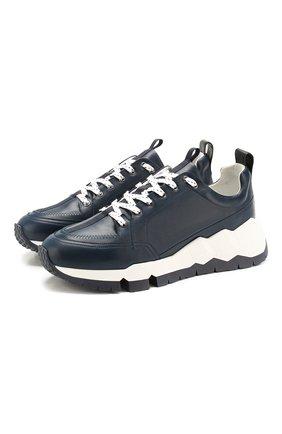 Мужские кожаные кроссовки PIERRE HARDY темно-синего цвета, арт. QX02/CALF | Фото 1