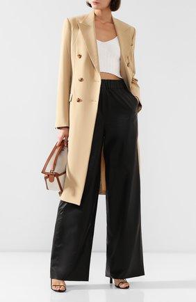 Женские кожаные брюки MASLOV черного цвета, арт. BR102   Фото 2