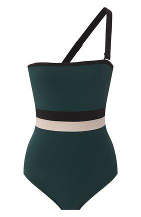 Женский слитный купальник SHAN темно-зеленого цвета, арт. 32030-08 | Фото 1