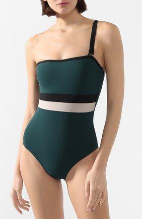 Женский слитный купальник SHAN темно-зеленого цвета, арт. 32030-08 | Фото 2