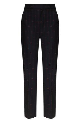 Женские шерстяные брюки GUCCI синего цвета, арт. 595172/ZABJ0 | Фото 1