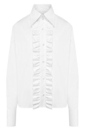 Женская хлопковая рубашка SAINT LAURENT белого цвета, арт. 614790/Y227W | Фото 1