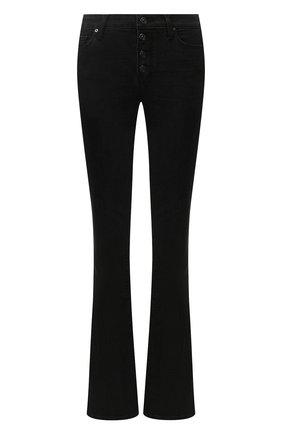 Женские расклешенные джинсы PAIGE черного цвета, арт. 5909F60-8095 | Фото 1