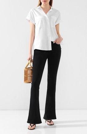 Женские расклешенные джинсы PAIGE черного цвета, арт. 5909F60-8095 | Фото 2