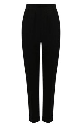 Женские шерстяные брюки ANN DEMEULEMEESTER черного цвета, арт. 2001-1408-P-170-099   Фото 1