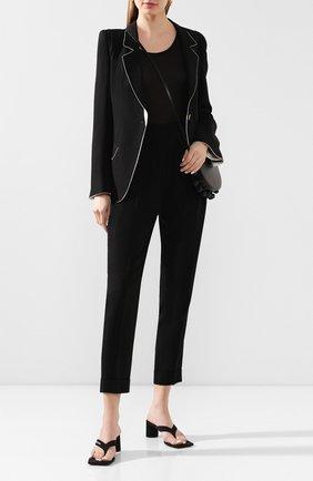 Женские шерстяные брюки ANN DEMEULEMEESTER черного цвета, арт. 2001-1408-P-170-099   Фото 2