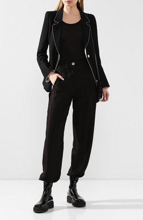 Женские брюки ANN DEMEULEMEESTER черного цвета, арт. 2001-1412-P-138-099 | Фото 2