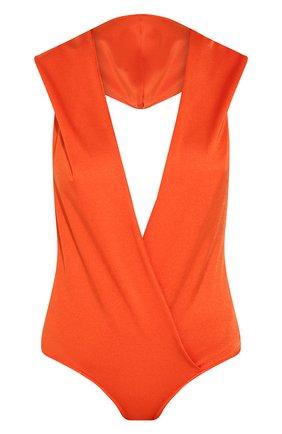 Женское боди BALMAIN оранжевого цвета, арт. TF00960/X372 | Фото 1