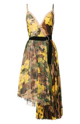 Женское платье-миди ERMANNO ERMANNO SCERVINO разноцветного цвета, арт. 46T AB14 STC   Фото 1