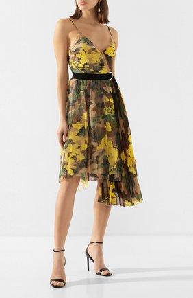 Женское платье-миди ERMANNO ERMANNO SCERVINO разноцветного цвета, арт. 46T AB14 STC   Фото 2