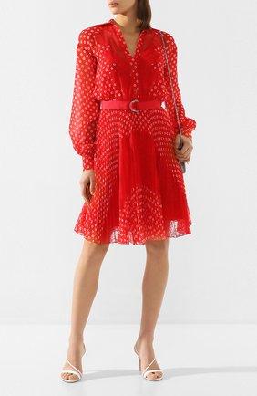 Женское платье с поясом ERMANNO ERMANNO SCERVINO красного цвета, арт. 46T AB76 FAN   Фото 2