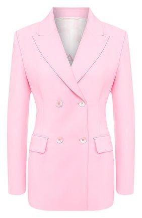 Женский двубортный жакет ERMANNO ERMANNO SCERVINO розового цвета, арт. 46T CP14 GIS   Фото 1