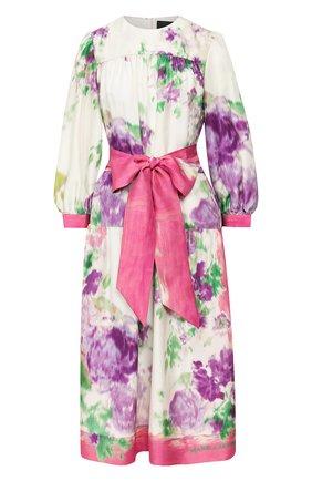 Женское шелковое платье MARC JACOBS RUNWAY розового цвета, арт. W5000049   Фото 1