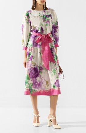 Женское шелковое платье MARC JACOBS RUNWAY розового цвета, арт. W5000049   Фото 2