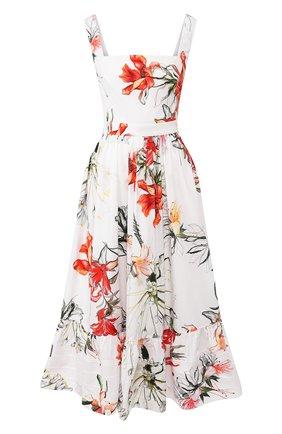 Женское хлопковое платье ALEXANDER MCQUEEN разноцветного цвета, арт. 623552/QDAAL | Фото 1