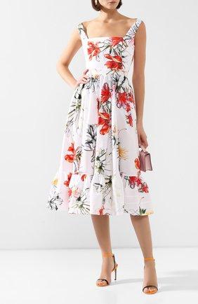 Женское хлопковое платье ALEXANDER MCQUEEN разноцветного цвета, арт. 623552/QDAAL | Фото 2