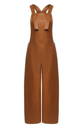 Женский кожаный комбинезон TWINS FLORENCE коричневого цвета, арт. TWFPE20TUT0003 | Фото 1