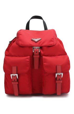 Женский рюкзак PRADA красного цвета, арт. IBZ811-V44-F0XDG-OTO | Фото 1