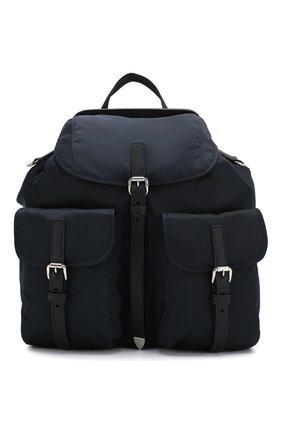 Женский рюкзак PRADA темно-синего цвета, арт. IBZ063-V44-F0AI7-OOH | Фото 1