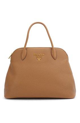 Женская сумка PRADA коричневого цвета, арт. IBA265-2BBE-F098L-OOO | Фото 1