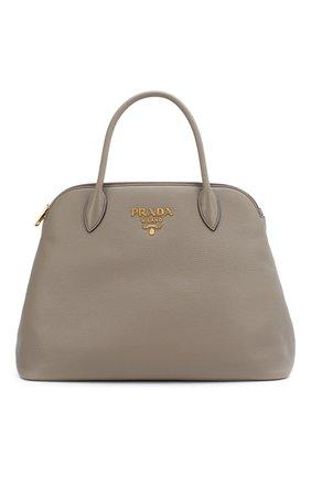 Женская сумка PRADA серого цвета, арт. IBA265-2BBE-F0572-OOO | Фото 1