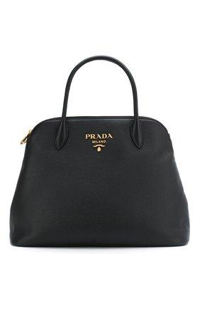 Женская сумка PRADA черного цвета, арт. IBA265-2BBE-F0002-OOO | Фото 1