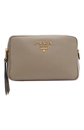 Женская сумка PRADA серого цвета, арт. IBH082-2BBE-F0572-NOM | Фото 1