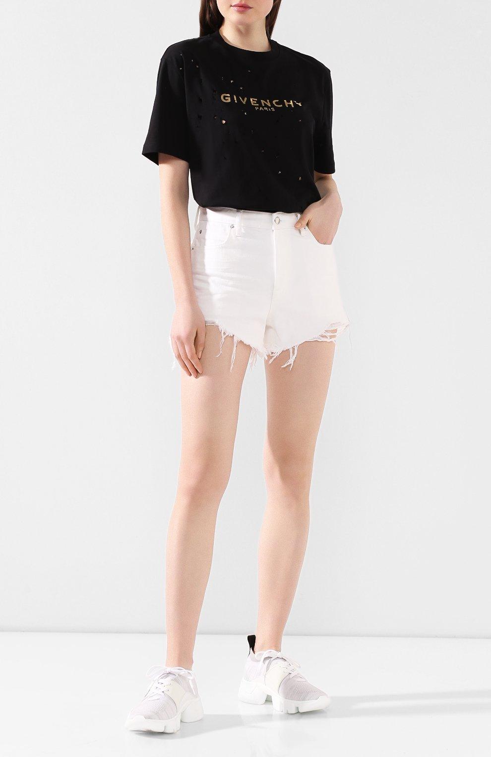 Женские текстильные кроссовки jaw GIVENCHY белого цвета, арт. BE000ME0DJ | Фото 2