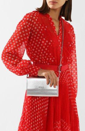 Женские кожаный кошелек на цепочке COCCINELLE серебряного цвета, арт. E2 FW5 11 07 01 | Фото 2