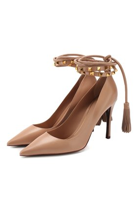 Женская кожаные туфли valentino garavani rockstud flair VALENTINO белого цвета, арт. TW0S0X79/GYH | Фото 1
