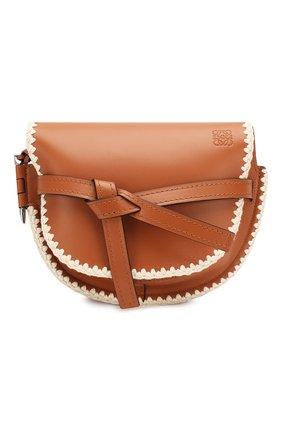 Женская сумка gate small LOEWE светло-коричневого цвета, арт. 303.44.T20   Фото 1