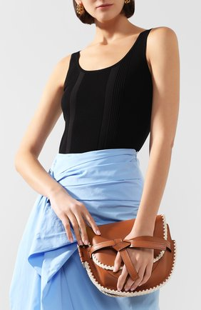 Женская сумка gate small LOEWE светло-коричневого цвета, арт. 303.44.T20   Фото 2