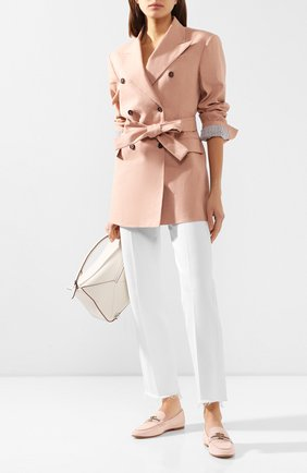 Женские замшевые лоферы TOD'S светло-розового цвета, арт. XXW45C0DA10D8W | Фото 2