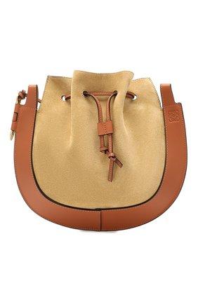 Женская сумка horseshoe LOEWE светло-коричневого цвета, арт. A826301X02   Фото 1